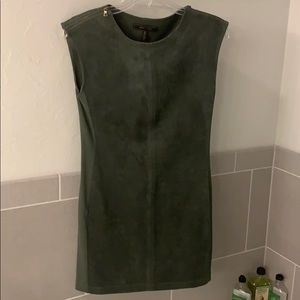 BCBG imitation suede dress with stretch on sides.